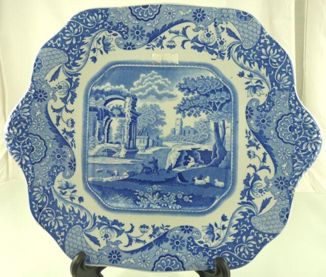 Spode Blue Italian Design C 1816 Creamer Sugar Bowl W Lid Made In England