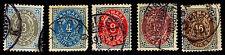 1895-1901 DENMARK #41-2, 44 & 46-7 - WMK 112 - P13 - USED - VF - $16.60 (E#2046)