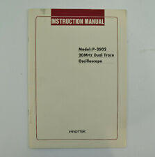 Protek Model P 3502 20mhz Dual Trace Oscilloscope Instruction Manual Only