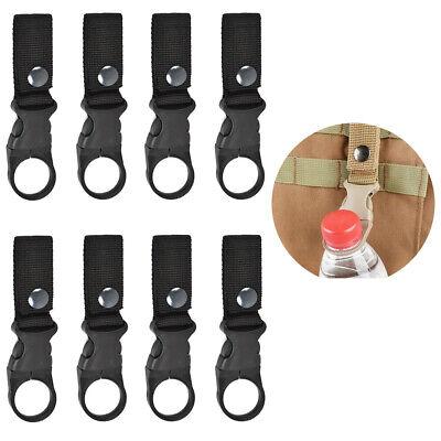 8X Tactical Molle D Ring Buckle Webbing Belt Hook Bottle Holder Clip Carabiner