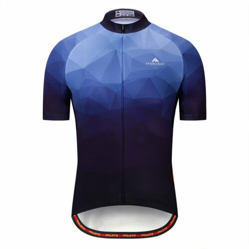Miloto Men/'s Cycle Clothing Tops Short Sleeve Cycling Jersey Bicycle Shirt S-5XL