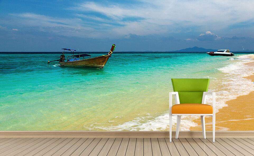 3D Stiefel Strand Meereswellen 84 Tapete Wandgemälde Wandgemälde Wandgemälde Tapete Tapeten Bild Familie DE | Ausgewählte Materialien  |  ad4f20