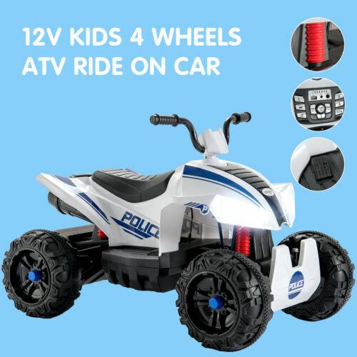 Quad Kinderauto ATV Kinder Motorrad Fahrzeug Elektro Elektromotorrad Weiß 12V