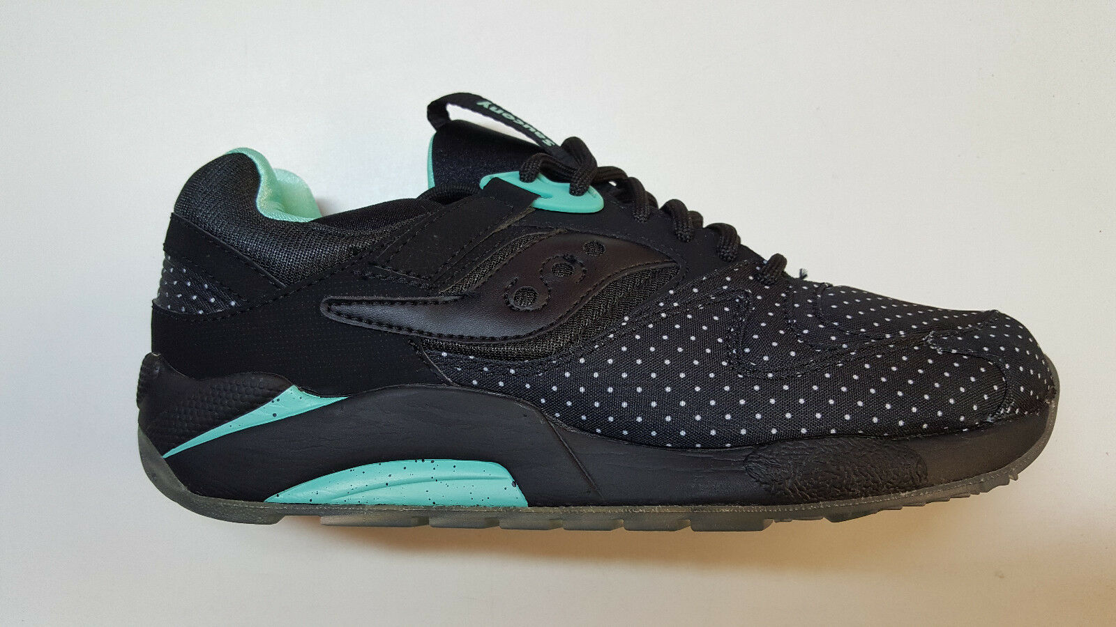 Saucony Grid 9000 Microdot Pack noir Aqua Teal hommes Sneakers S70256-3 1703-91