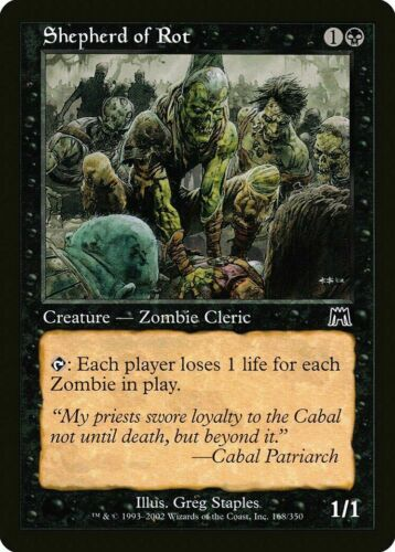1x SHEPHERD OF THE ROT Onslaught Magic the Gathering MTG NM Zombie