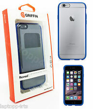 """Genuine Griffin Reveal Clear Shell Case Cover For Apple iPhone 6 & 6S 4.7"""" Blue"""