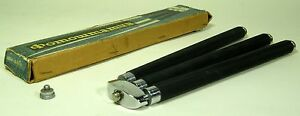 """metal photo tripod height 290-1200 mm+ box+2 2 special rings 1/4""""or 3/8"""" USSR"""