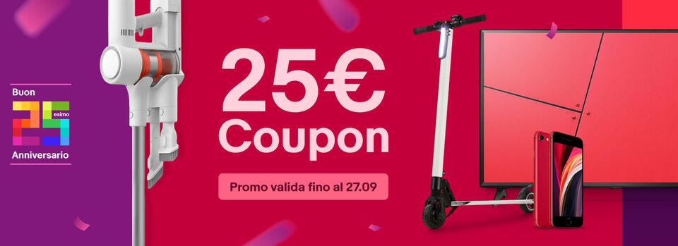 Scopri tutto - 25 anni di eBay? 25€ per te!