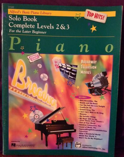 Alfred/'s Basic Piano Library Top Hits Solo Book Complete Levels 2/&3 17200