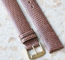 Rare Extra Long 18mm Genuine Lizard vintage watch band NOS 1960s/70s great skin