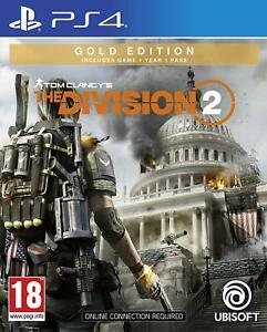 Tom-Clancy-039-s-The-Division-2-Gold-Edition-PS4-New-Sealed