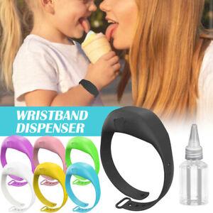 Portable Sillicone Soap Bracelet Wristband Hand Dispenser Band Squeeze Bottle