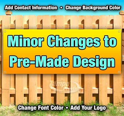 MINOR CHANGES Advertising Vinyl Banner Flag Sign USA Many Sizes Available USA