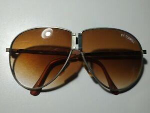 Vintage Ferrari Men S Sunglasses With Case Black Frame Folding Aviator Ebay
