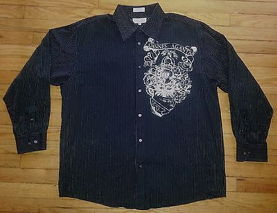 Eighty-eight Shirt Button-front Xxl L/s Black White Stripes Nwot $40 C585 Good Heat Preservation Clothing, Shoes & Accessories Shirts