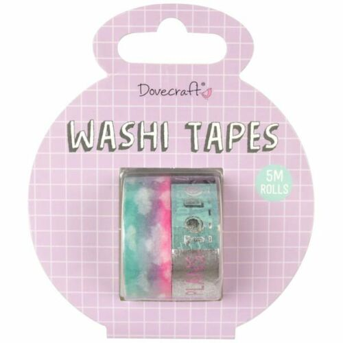 Dovecraft Planner Accessory Travel Washi Tapes 5mPack of 2