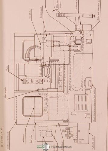 Mori Seiki Yasnac SL-3 Lathe Instructions and Maintenance Manual 1983