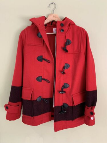 Hudson Bay Red Wool Duffle Jacket Canada Olympics