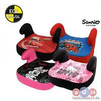 Autositzerhöhung Kindersitzerhöhung Disney Cars Hello Kitty M. Mouse 15-36 Kg