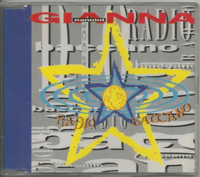 GIANNA NANNINI - Radio baccano - CD SINGOLO 1993 COME NUOVO JOVANOTTI