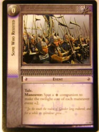 Some Who Resisted 3//45 Lord of the Rings LOTR CCG