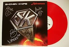Shonen Knife band REAL hand SIGNED Adventure Red Ltd to 500 Vinyl w/ PROOF COA
