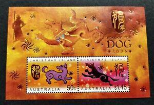 2006-Christmas-Island-Zodiac-Animal-Lunar-Year-Dog-Miniature-Sheet