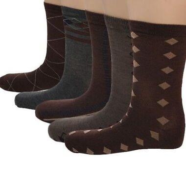 5 Pairs: John Weitz Mens Socks