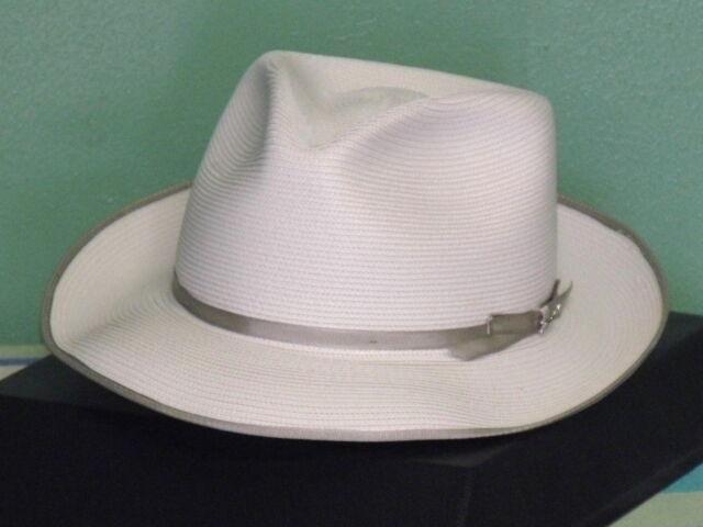 Buy Stetson Stratoliner Florentine Milan Straw Fedora Hat Beige 6 3 ... 1363d618c0f