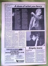 DOCTOR FEELGOOD / JOURNEY concert reviews 1980 UK ARTICLE / clipping