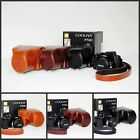 New leather case bag grip +strap to Nikon Coolpix P530 camera black brown coffee