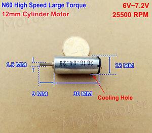 DC 12V-24V High Speed Mini Motor Engine 1.5mm Dual Shaft Axis DIY Slot Car Boat