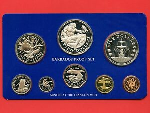 1975-Barbados-Proof-Silver-8-Coin-Set-10-37-9-Grams-925-5-31-1-Grams-800