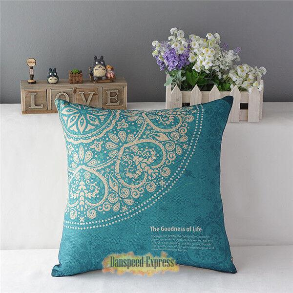 Simple Cotton Linen Throw Waist Pillow Case Sofa Cushion Cover Square Decorative