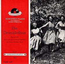 *- Vinyl-Schallplatte - Das DREIMÄDERLHAUS - Franz SCHUBERT-Berte