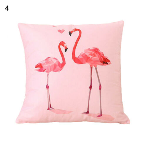 Fashion Flamingo Pattern Throw Pillow Case Sofa Bed Cushion Cover Home Decor New