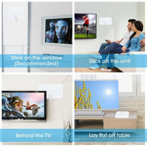 TV Antenna HDTV Flat HD Digital Indoor Amplified 50Mile Range TV VHF UHF JKHWC