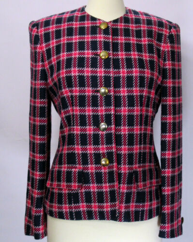 Vintage Evan Picone 1980s or 1990s blazer jacket … - image 1