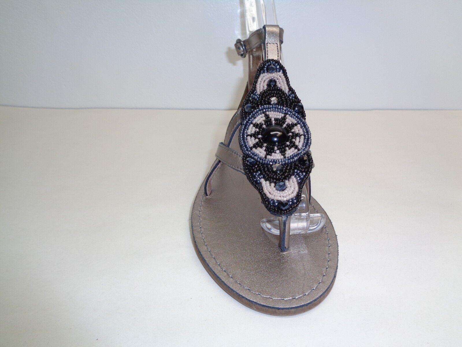 Tommy Tommy Tommy Bahama Größe 8 PRIMROSE Pewter Gray Leder Beads Sandales New Damenschuhe Schuhes c355ff