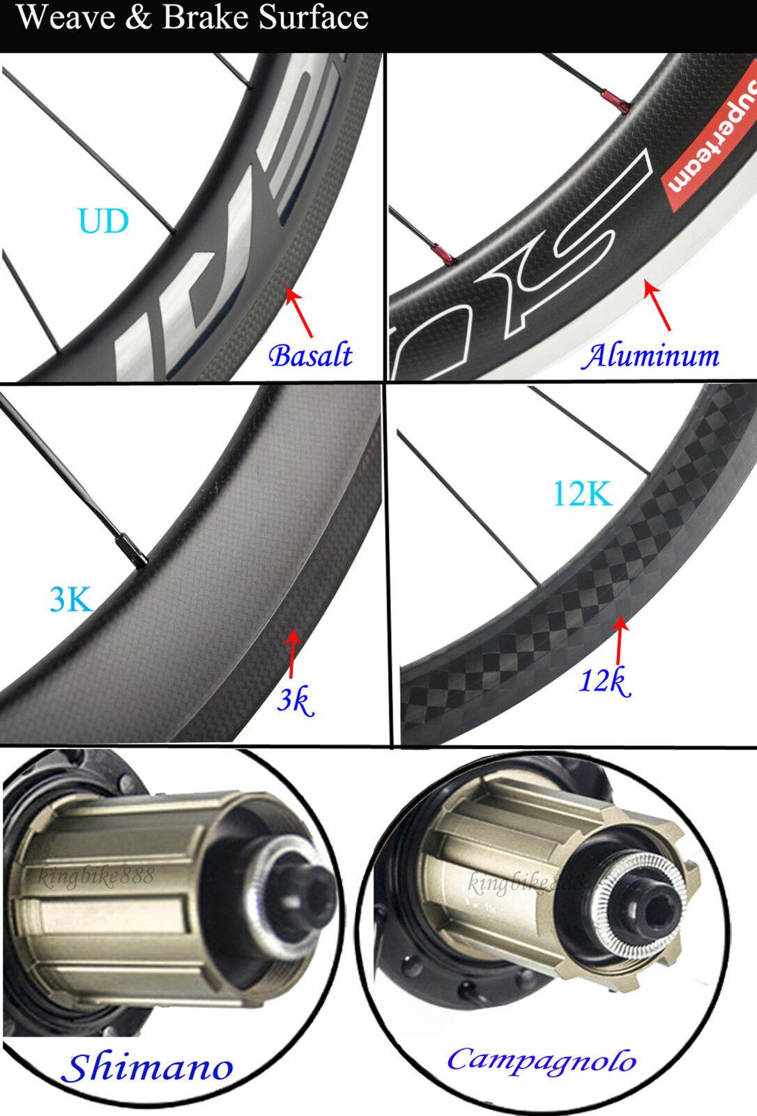 38 Mm Ruedas de Carbono Bicicleta Bicicleta Bicicleta de Carretera Bicicleta Ruedas de R7 Hub 25 mm Ancho unidireccional en forma de U ef9276