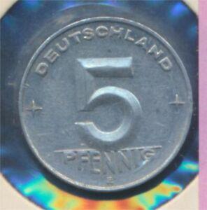 DDR-Jagerno-1506-1952-e-UNC-5-Pfennig-hammer-Zirkel-zwische-8719994