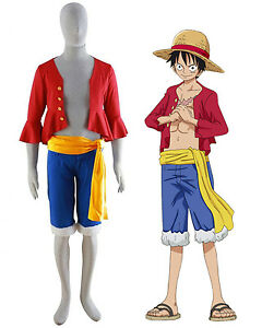 One Piece Monkey D Luffy New World Costume Outfits For Halloween