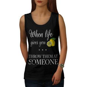 Diplomatique Wellcoda Life Lemon Throw Femme Tank Top, Drôle Athletic Sports Shirt-afficher Le Titre D'origine