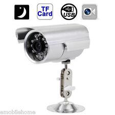 Waterproof Outdoor CCTV Security Camera SD/TF Card Night Vision DVR Recorder EU