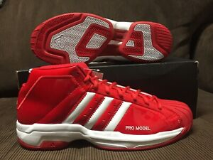 ADIDAS-PRO-MODEL-2G-WHITE-RED-PATENT-BASKETBALL-SZ-12-5-US-MENS-NEW-DS
