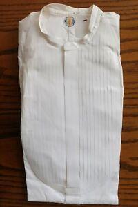 Magasiner Pour Pas Cher Vintage Plissé Robe Tunique Chemise Radiac Taille 15 Edwardian Empesé Sans Col-afficher Le Titre D'origine Exquis (En) Finition