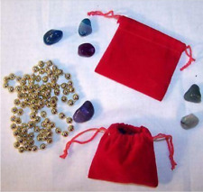 24 Small Red Velvet Drawstring Storage Jewelry Bags Soft Bag Coins Rocks New