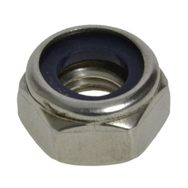 Qty 1 Hex Nyloc Nut M10 (10mm) Marine Grade Stainless Steel SS 316 A4 70 Lock
