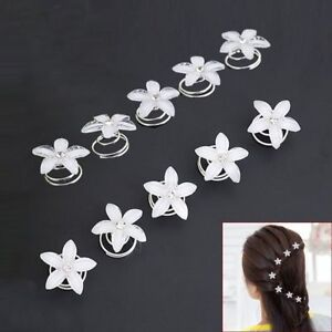 5-PCs-Hair-Pin-Twist-Coil-Flower-Swirl-Spiral-Hairpin-Crystal-Shining-Hair-Clip