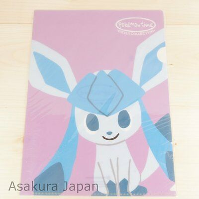 Pokemon Center Original pokémon time A4 Size Clear File Folder Glaceon
